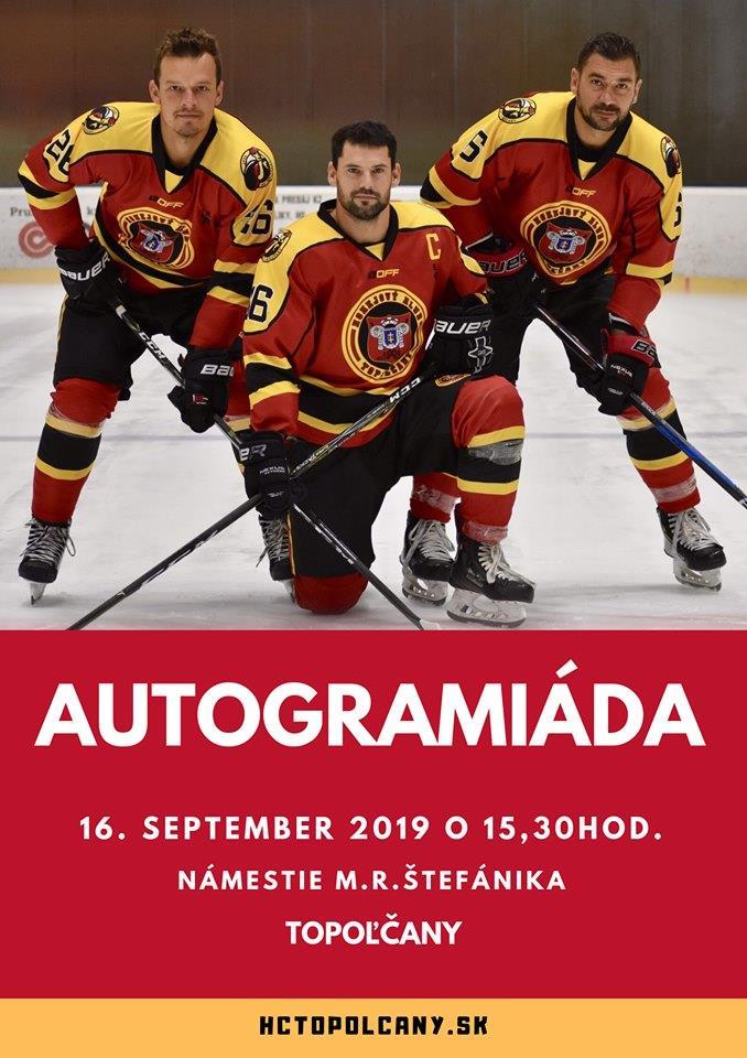 Autogramiáda seniorov - 16.09.2019